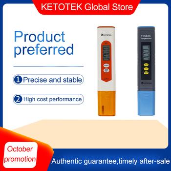 Ketotek Protable LCD cyfrowy ph-metr TDS EC miernik Tester PH termometr do basenu akwarium woda wino mocz automatyczna kalibracja tanie i dobre opinie TDS EC Meter PH Tester DIGITAL
