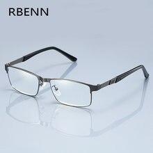 RBENN الفولاذ المقاوم للصدأ الرجال الأعمال نظارات للقراءة الإطار الكامل المعادن الشيخوخي النظارات البصرية + 0.75 1.75 2.25 2.75 5.0 6.0