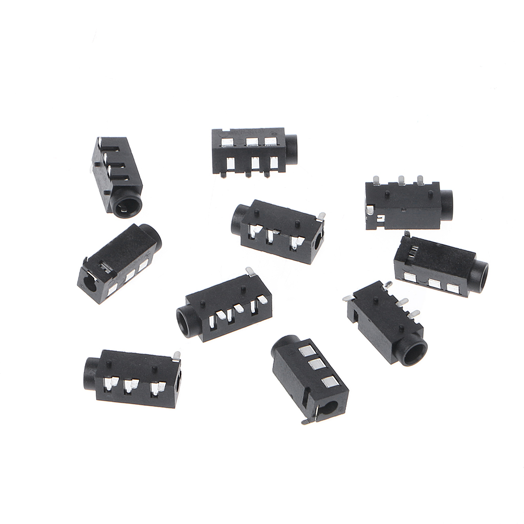 <font><b>10</b></font> Pcs PJ-320D 4 <font><b>Pins</b></font> SMD 3.5mm Female Headphone Jack <font><b>Connector</b></font> <font><b>PCB</b></font> Mount 94PC image