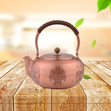 Water-Kettle Pure-Copper-Pot Teapot Boiling Red Handmade Thicken Large-Capacity