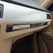 For BMW E90 E92 E93 Car Interior Trim Carbon Fiber Copilot Water Cup Holder panel Decor Cover 3 series LHD RHD Accessories for bmw 3 series e90 e92 e93 accessories car interior carbon fiber air conditioning cd panel cover trim decorations