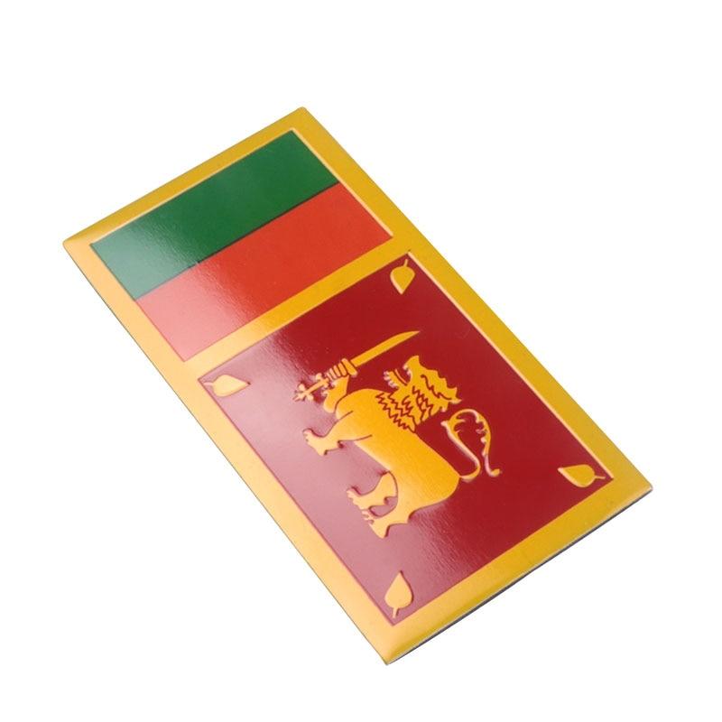 3D автомобильный Стайлинг, алюминий, флаг Шри-Ланки, знак, авто, тело, передняя эмблема, наклейки на мотоцикл, автомобильные наклейки, аксессу...