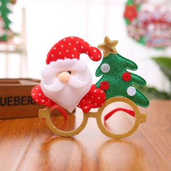 Christmas Tree Glasses Cartoon Antlers Old People Christmas Children Holiday Party Gifts Toys Small Gifts Antlers image