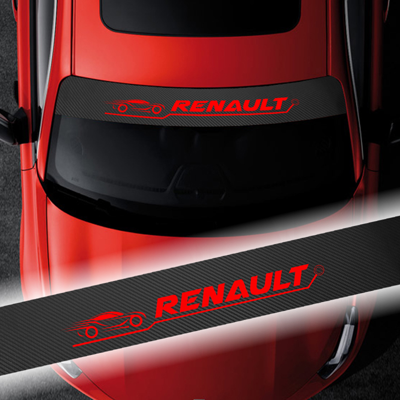 Because RENAULT Window Bumper Windscreen Sticker Decal Clio Megane Captur RS