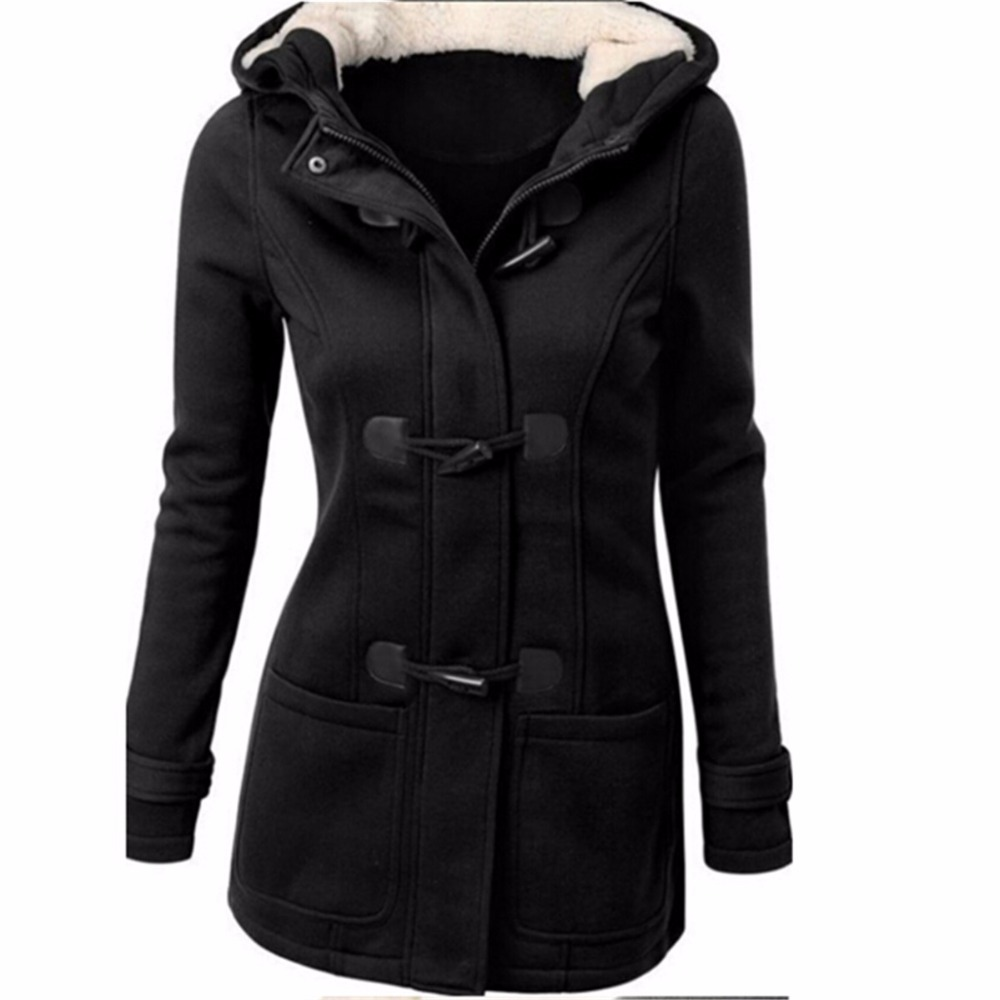 Especially long   trench   coat for women Spring Autumn Overcoat Female Long Hooded Horn Button Outwear trenchcoat
