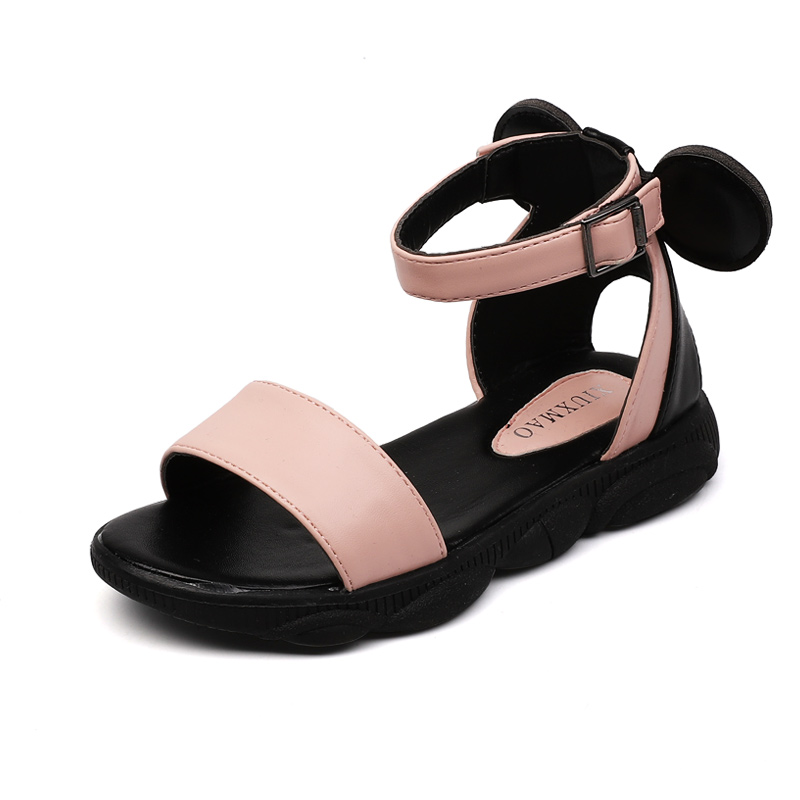 Sweet Big Girl Sandals Kids Soft Rubber Sole Shoes Beach Sandals For Medium Children 3-11 Years Old Age Cute Pink White Sandals