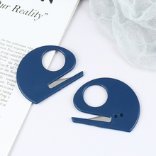 Hot 2pcs Plastic Mini Letter Knife Mail Envelope Opener Safety Paper Guarded Cutter