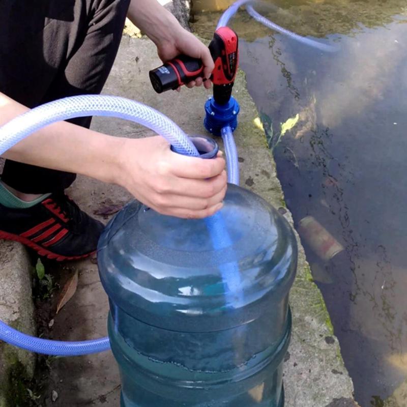 Мини центробежный водяной насос сверхмощный самовсасывающий ручной электродрель водяной насос бытовой микро садовый центробежный Малень...