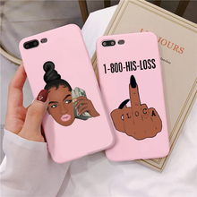 For iPhone 7 8 Plus X XR XS MAX MAKE MONEY Not Friends Kash Black head Girl Matte Pink soft Case For iPhone 11 Pro MAX 2019 Case make money not friends куртка