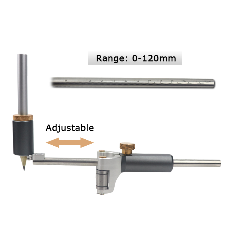 Tools : Woodworking Straight And Arc Line Scribe Dual-purpose Parallel Line Drawing Ruler Marking Gauge Automatic Line Scribing Tools