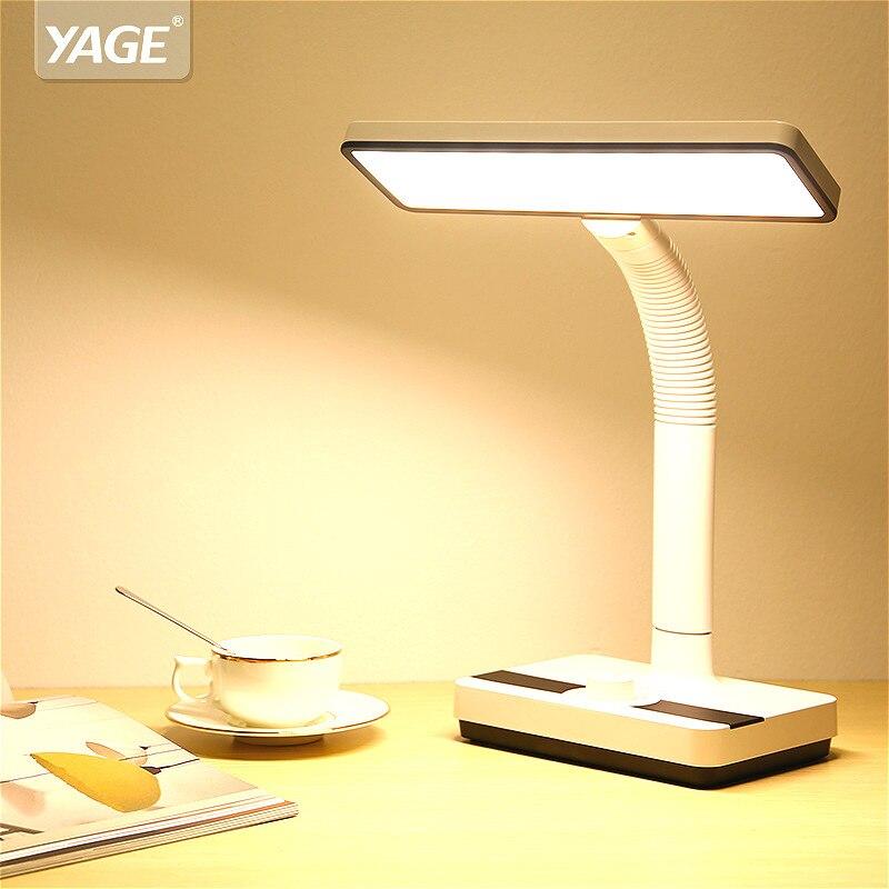 3 couleurs de lumière lampe de Table rotatif continu gradation lampes Table 3.4W 40 pièces Led lampe de Table 1400mAh Rechargeable Led lampe de bureau doux