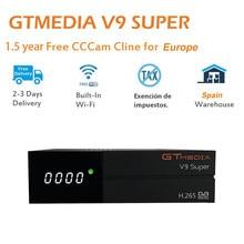GTmedia V9 супер HD H.265 DVB-S2 цифровой спутниковый ТВ приемник и 1,5 год Европа испанский Португалия ТВ сервер cccam
