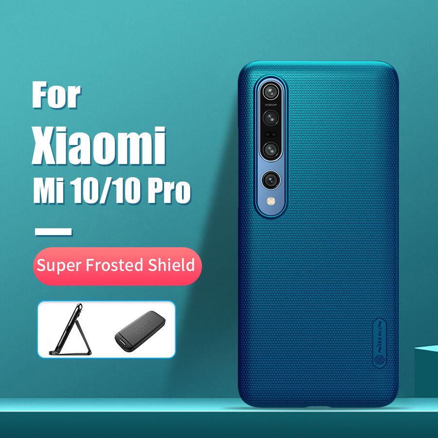 For Xiaomi Mi 10 Pro Case 6.67 NILLKIN Frosted PC Matte Hard Back Cover Gift Phone Holder For Xiaomi Mi 10 Case For Mi 10 Pro 5g