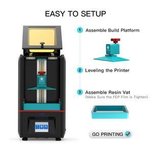Image 3 - ANYCUBIC stampante 3D Photon SLA resina UV fotopolimerizzazione Impresora 405nm resina Plus stampa formato 3d Drucker impressora resina 3d