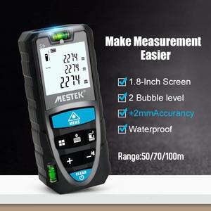 Image 4 - MESTEK Laser Distance Meter 50/70/100m Laser Meter Trena a Laser Range Finder Metro Laser Build Measure Device Ruler Test Tool