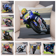 Sport Motorcycle Racing Cushion Cover Mobile Bike Pillow Covers Super Soft Short Plush Pillow Case for Sofa Home Pillowcase cheap ROMANZO Printed Plain Woven Portrait Square Chair Seat Decorative DBZ0500 decorative pillow covers black yellow red blue