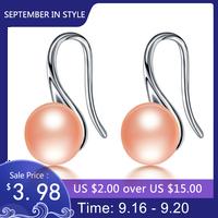 HENGSHENG Natürliche Rosa Perle Ohrringe, Frauen Mode 925 Silber Stud Ohrringe, Hohe Glanz Mit Starken Licht