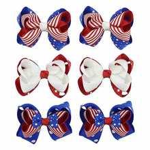 1 шт детская заколка для волос с бантом и национальным флагом