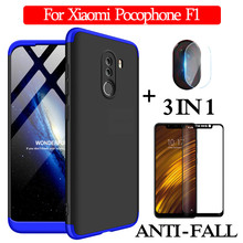 3-in-1 Glass + 360 Armor Case for Xiaomi Pocophone