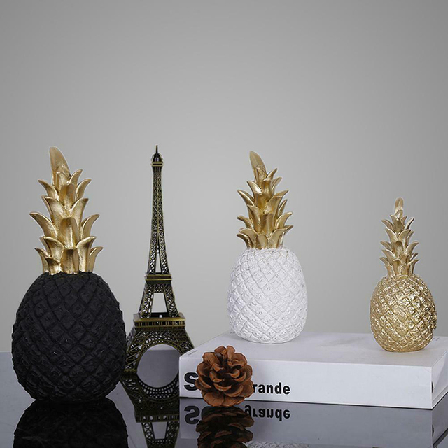 Nordic Resin Gold Pineapple Modern Home Decoration For Living Room Cabinet Window Desktop Party Wedding Home Ramadan Decoration 6