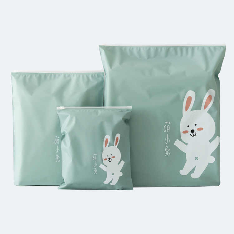 3Pcs Creative Travel Bunny Portable Miscellaneous Storage Bags Cartoon Pattern Practical Waterproof Belt Bags Clothing Storage