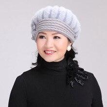 MAERSHEI New Arrival Elegant Women Knitted Hats Rabbit Fur Cap Autumn Winter Berets Ladies Female Fashion Skullies Beret Hat цена в Москве и Питере