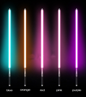 14 Color Lightsaber Metal Sword RGB Laser Cosplay Boy Gril Toy Luminous Kids Gift Light Outdoor Creative Wars Toys Stick Saber