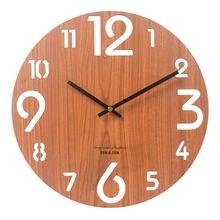 Большие деревянные настенные часы для гостиной домашнего декора