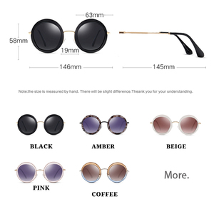 Image 2 - PARZIN 여성 빈티지 편광 선글라스 UV400 럭셔리 브랜드 라운드 태양 안경 여성 유행 안경 운전에 대 한