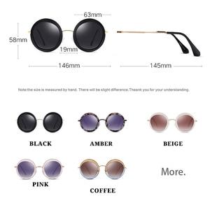 Image 2 - Parzin女性ヴィンテージ偏光サングラスUV400高級ブランドラウンドサングラス女性のための流行のメガネを駆動するための