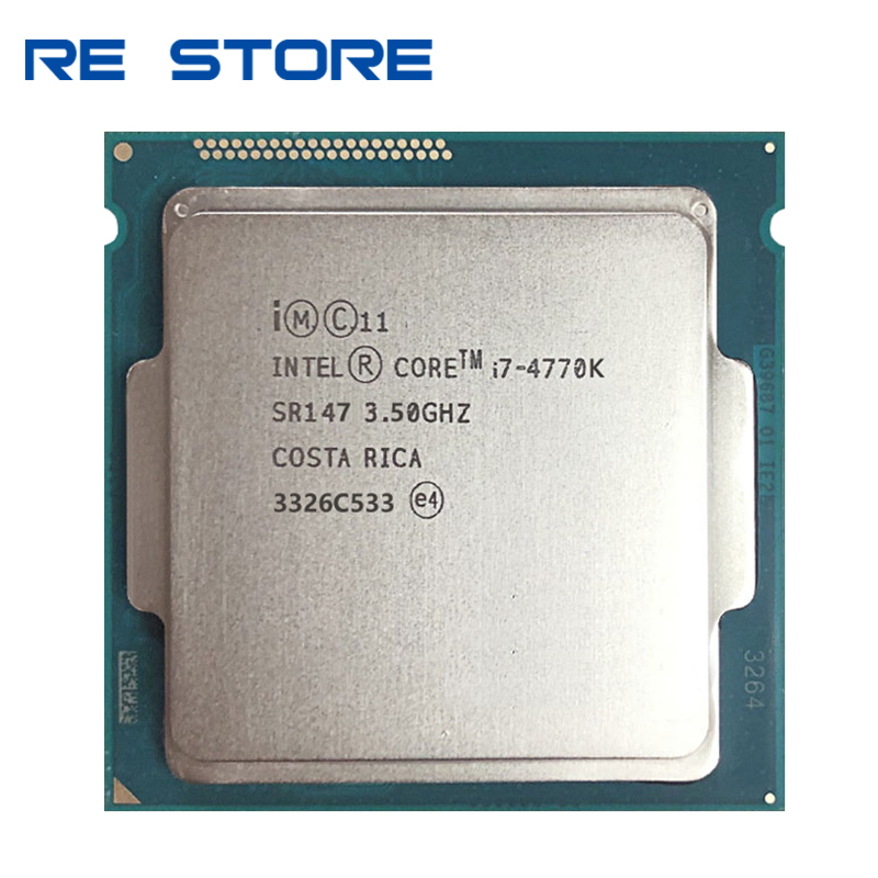 used Intel Core i7 4770K SR147 3.5GHz Quad-Core CPU Desktop Processor