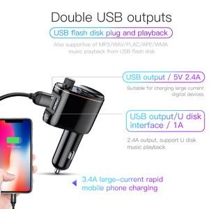 Image 4 - Baseus USB Chargerเครื่องส่งสัญญาณFMสำหรับiPhone Xiaomi AUX MP3 FM Modulator Dual USBรถชาร์จสำหรับโทรศัพท์มือถือ