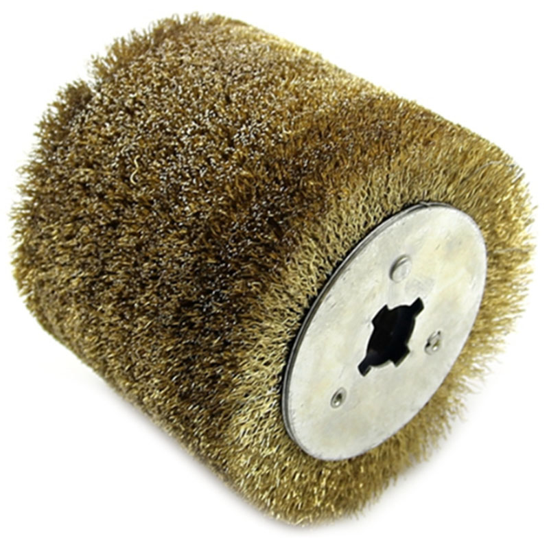 Wire Brush Wheel Wood Open Paint Polishing Deburring Wheel For Electric Striping Machine