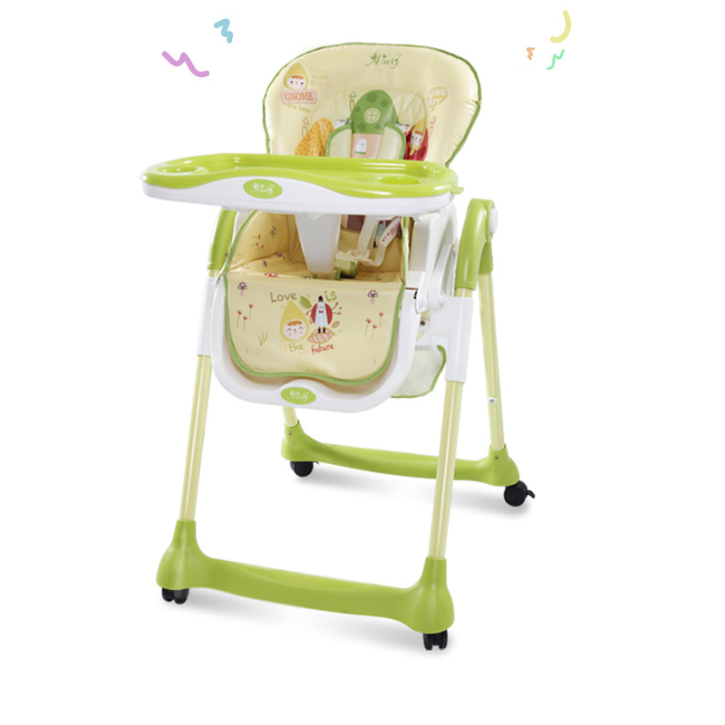 Children's High-Feeding Chair Multi-Function Portable Folding Baby Eating Dinette 0-4 Years Old Kids