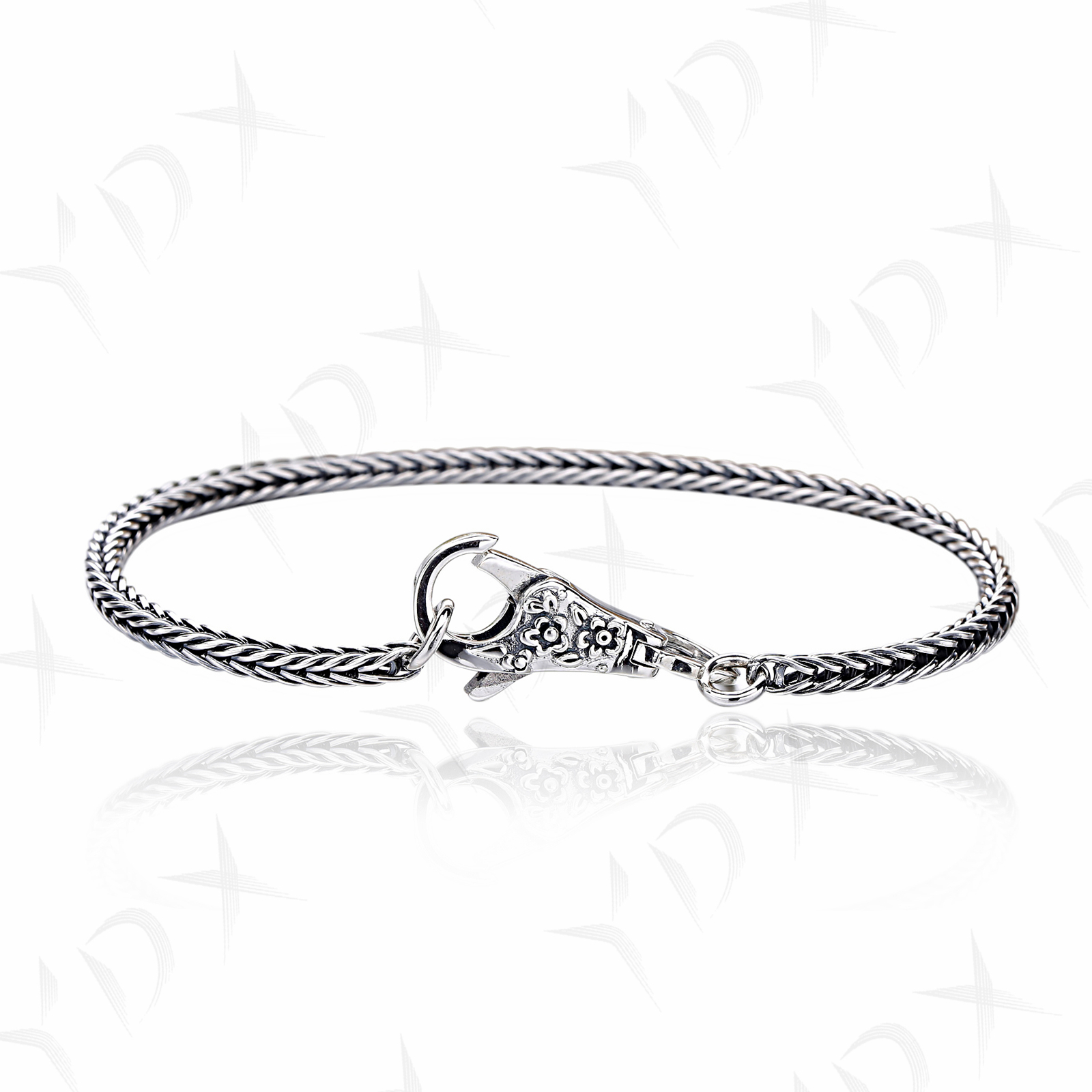 YDX 100% 925 Sterling Silver Couple Bracelet Retro Lobster Buckle Bracelet Suitable For Charm Beaded Party Gift