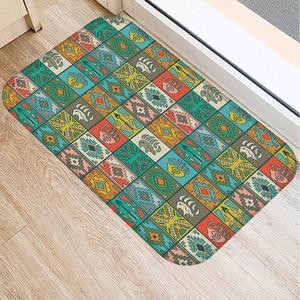Image 5 - 40 * 60cm Plaid Pattern Mat Non slip Suede Soft Carpet Door Mat Kitchen Living Room Floor Mat Home Bedroom Decorative Floor Mat.