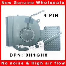 Радиатор охлаждения процессора ноутбука с вентилятором, радиатор охлаждения для Dell Latitude XT3 0H1GH8 H1GH8 DFS400805L10T FAA6 6043B0098402
