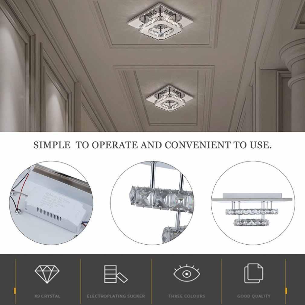 Lâmpada de cristal do corredor simples e moderno conduziu a lâmpada do teto varanda corredor luz restaurante criativo lâmpada iluminação