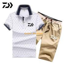Летние мужские рубашки с коротким рукавом дайв рыбалка и шорты для спорта на открытом воздухе дышащая быстросохнущая одежда для рыбалки DAWA спортивные костюмы для мужчин