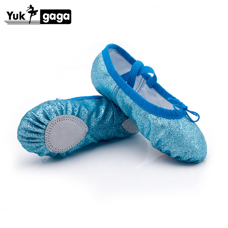 New 6 Color PU Soft Ballet Shoes Dance Shoes Yoga Sneakers Children Girls Women Slippers According The CM To Buy