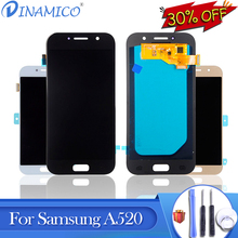Dinamico Promotion A520 Lcd For Samsung Galaxy A5 2017 Lcd Display A520F Touch Screen Digitizer Assembly Free Shipping+Tools new tested for samsung galaxy s6 lcd g920 g9200 display screen with touch digitizer free tools assembly 1 piece free shipping