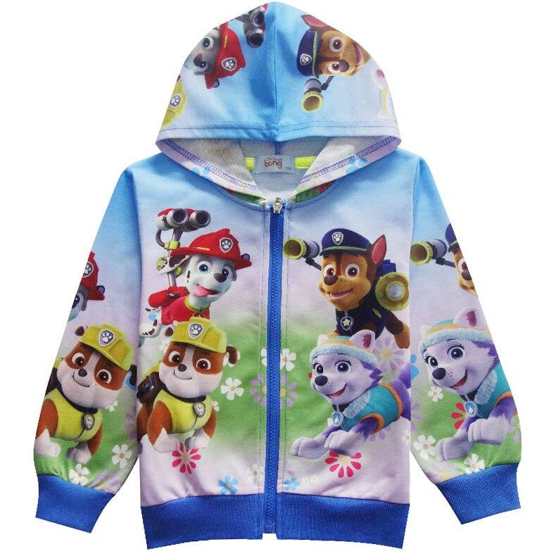 Children's Hoodies Cartoon Dogs Marshall Chase Skye Rubble Rocky Cosplay Costume Boy Girl Sweatshirt Boys Jacket 3-11Y
