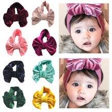 цена на Soft Baby/Girls Kids Toddler Bow Hairband Headband Turban Knot HeadWrap 2020 New Kids Headwear