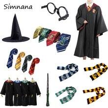 Костюмы для косплея, костюмы Поттера, волшебный халат, плащ, костюм Хогвартс, Униформа, плащ Гриффиндор Слизерин, Рейвенкло, хаффлпуф, Хэллоуин
