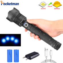 7000 lumens Lamp xhp70.2 most powerful flashlight usb Zoom led torch xhp70 xhp50 18650 or 26650 battery Best Camping, Outdoor