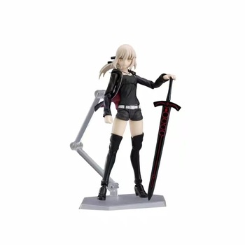 Anime Fate / Grand Order Figma 418 hezoba Saber Altoria action figure collectible model toys Brinquedos 13cm 2