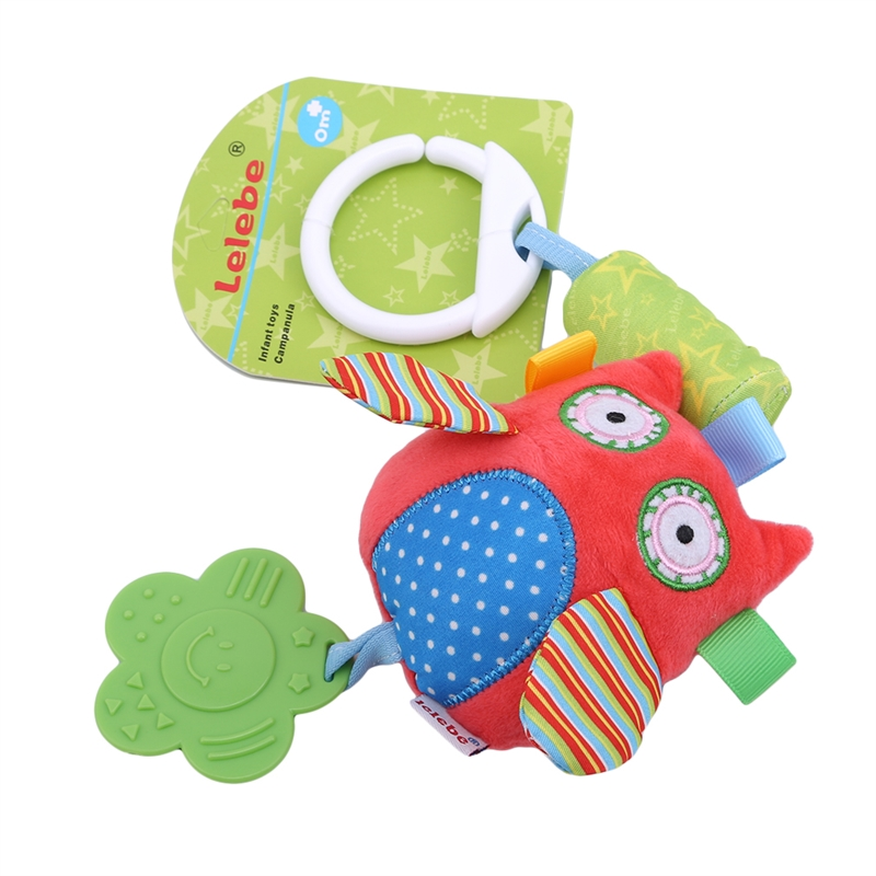 Baby Toys 0-12 Months Rattle Toy Rattles Cute Animal Develop Baby Intelligence Activity Grasping Toy Hand Bell Teether