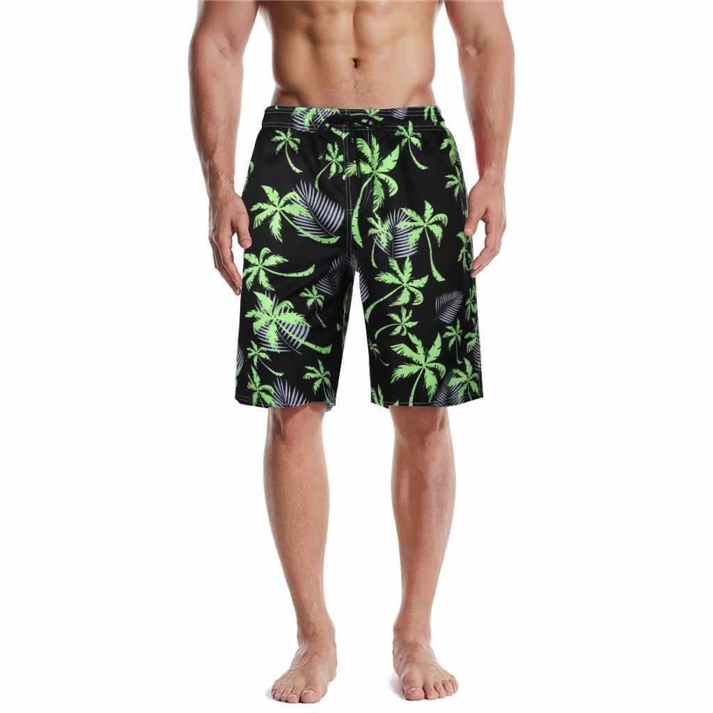 Wygodne szorty męskie Brand New spodenki plażowe 2020 męskie lato Shrots wodoodporna jednolita elastyczna talia moda krótki Homme 1.27