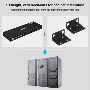 Image 5 - KVM Switch 8 Port HDMI Switcher Up to 4K@60Hz Ultra HD Support USB2.0 IP Control Auto Scan Rackmount with 4 Pcs KVM cable 4K HD