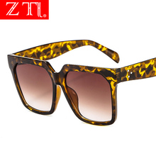 ZT Oversize Square Sunglasses Women Fashion Nail Decoration Gradient Sun Glasses Men Designer Beach